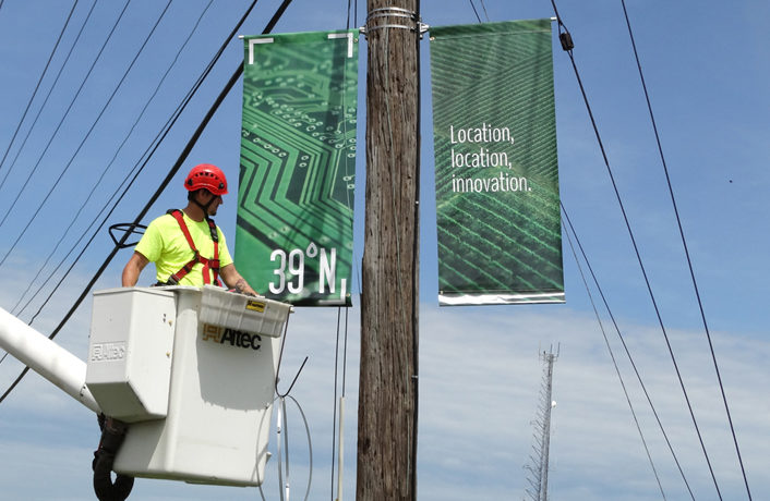 39 North Unveils Street Pole Banners