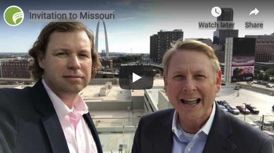 Mark Sutherland, CMO of Missouri Partnership, and Tim Nowak of the World Trade Center