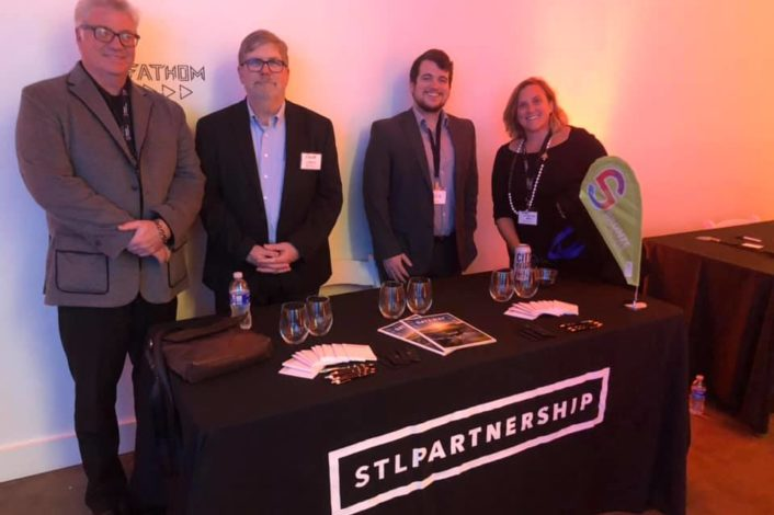 Jason Archer, STL Partnership Vice President of Business Development, Roger Schlueter, STL Partnership Business Development Officer, Zach Folk, STL Partnership Business Development Specialist, Janet Wilding, Vice President of 39North and Major Projects with STL Partnership