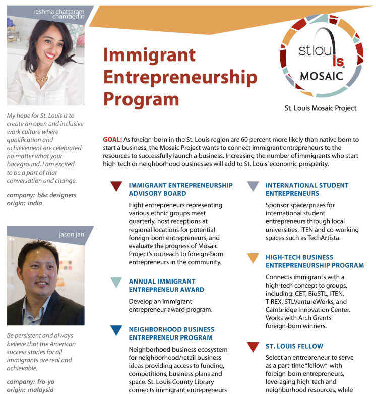 St. Louis Mosaic Project Immigrant Entrepreneurship Program