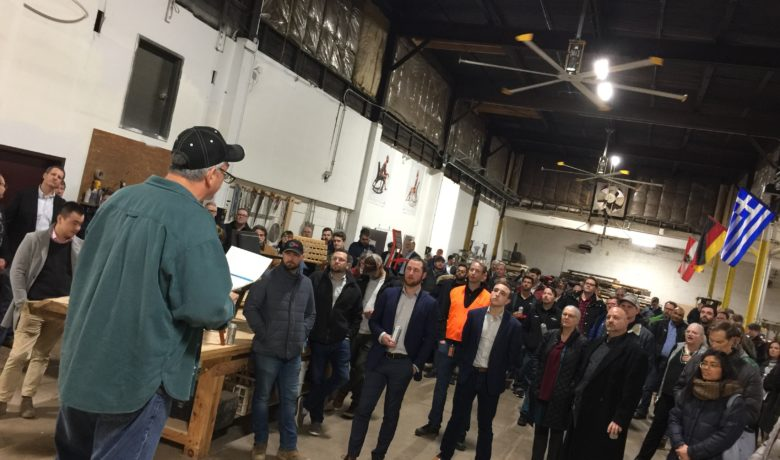 St. Louis Makes Factory Tour at Goebel Furniture