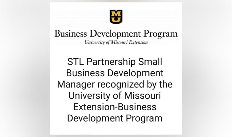STL Partnership Small Business Development Manager Recognized by The University of Missouri's Business Development Program